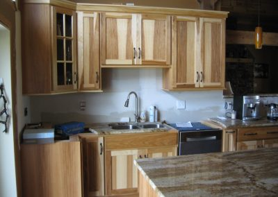 Kitchen remodel with beautiful wood grain cabinets