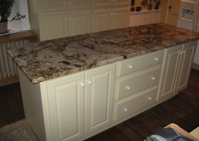 Kitchen Island and Custom Cabinetry